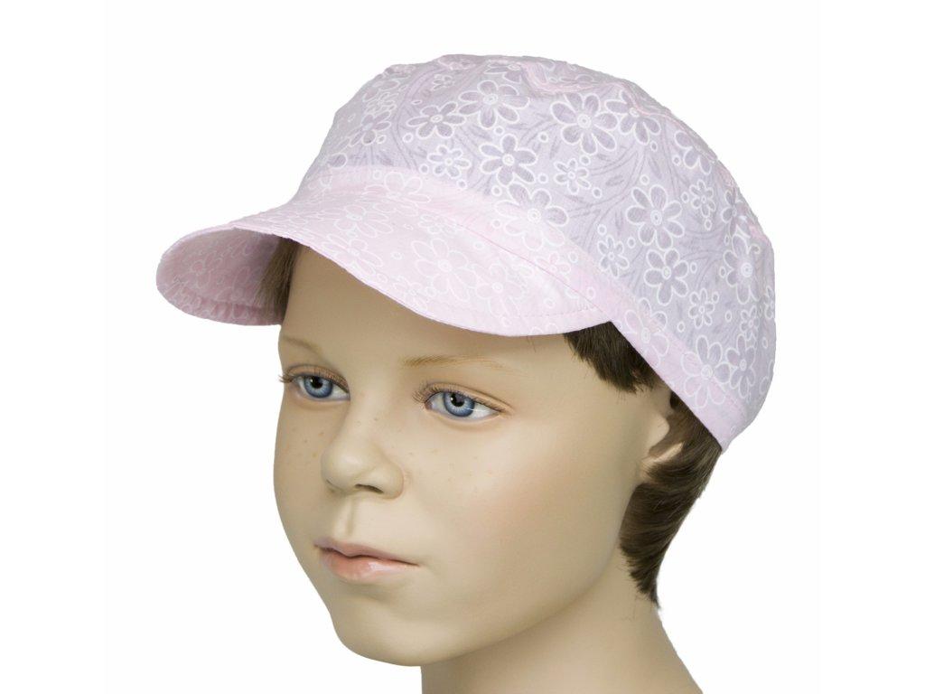 072b633bb3b Čepice Bekovka-letní růžová s kytičkou - Dětské oblečení Fantom