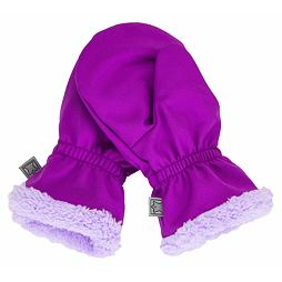 Rukavice SOFTSHELL s kožíškem-růžové - Dětské oblečení Fantom 48a3b7e454
