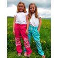 Dětské kalhoty Fantom bavlněné letní s kostkou